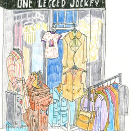 One Legged Jockey vintage shop, Chichester