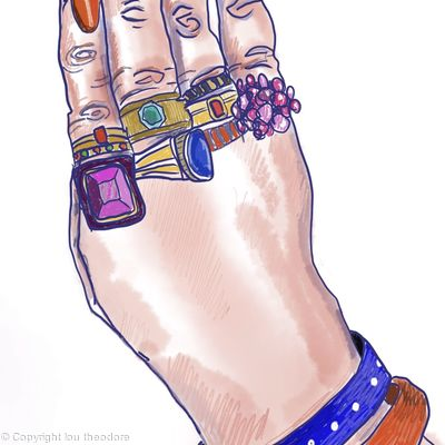 She liked to wear all her rings everyday