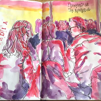 Drawing flamenco night at Brighton Festival 2018