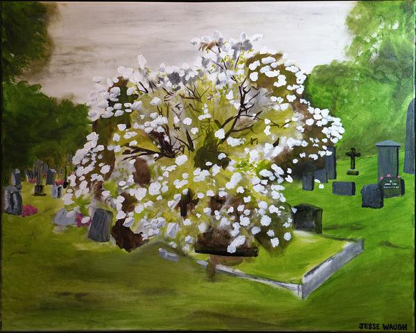 Flowering Tree near Munch's Grave