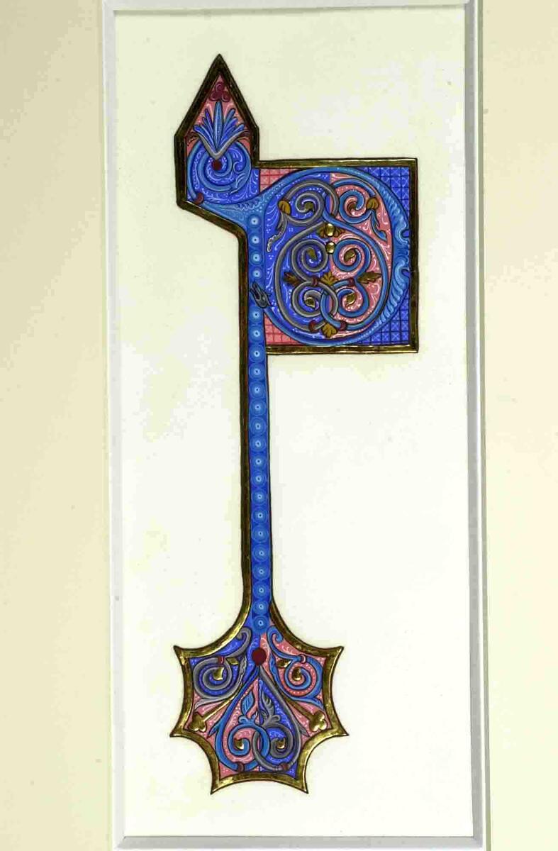 Medieval Illuminated Letters P Illuminated letter p