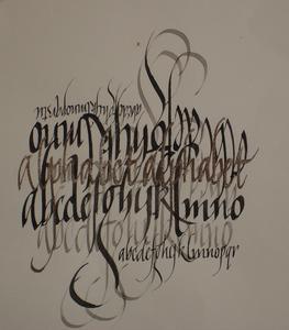 Black  Silver Alphabet