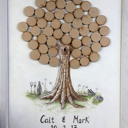 Cait & Mark's Wedding Guest Tree