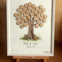 Wedding Guest Tree on table easel