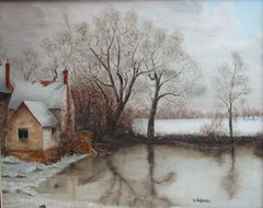 Willy Lott's Cottage Winter (Haywain)