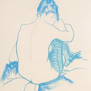 Seated Nude (Blue)