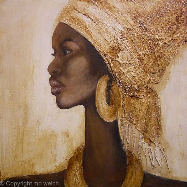 african woman with headscarf