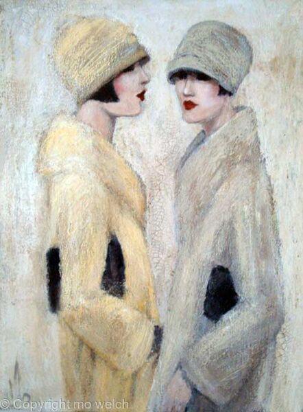 Art Deco Fashion 1920 S Paintings Art Deco Paintingsof
