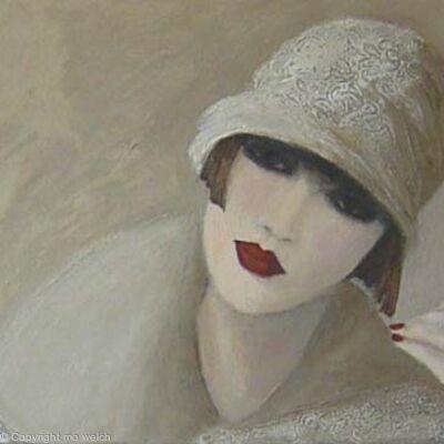 1920s 3 women in white
