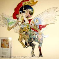 Pegasus - with scenes of Greek legend painted into the body of Pegasus