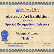 Light, Space, Time abstracts exhibition certificate