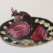 Beetroot  on  a  Russian  plate