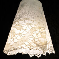 lacey circles lamp