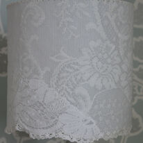 Lace drum shade
