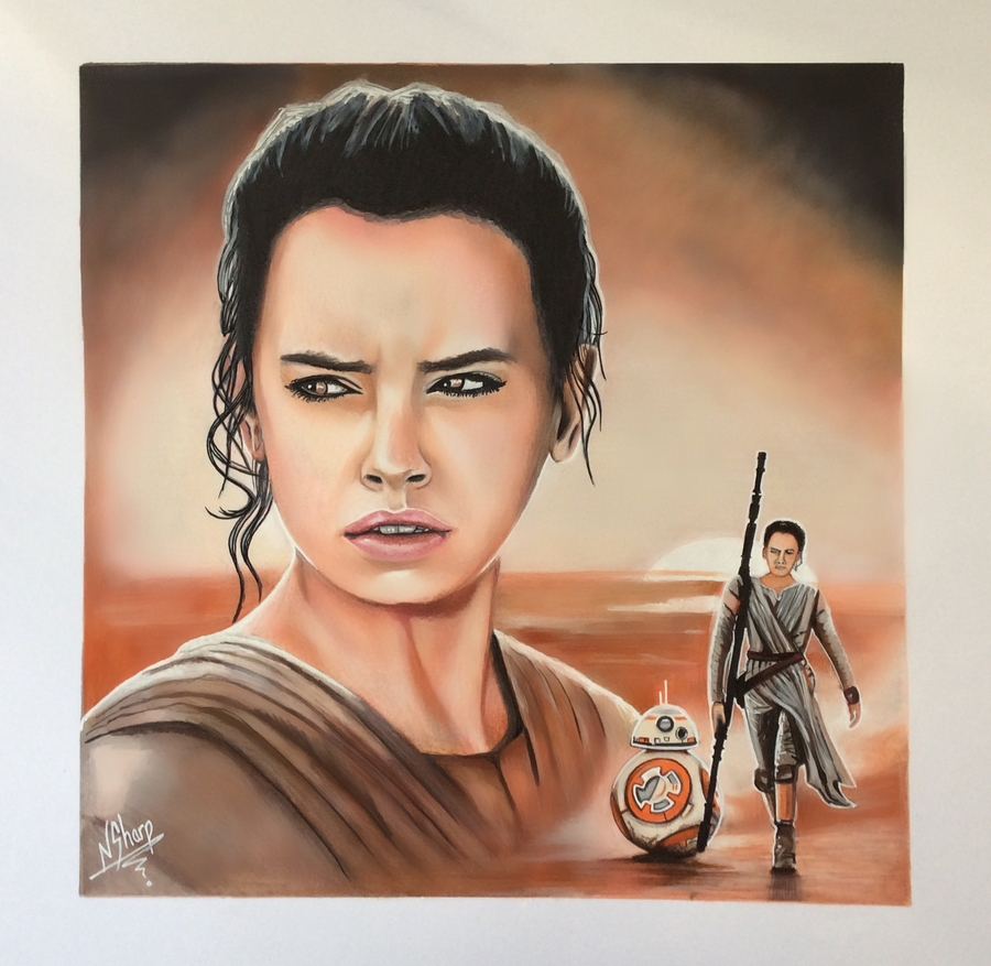 STAR WARS ART (Rey) Inspiring Realistic Paintings by Nathan Sharp #artpeople