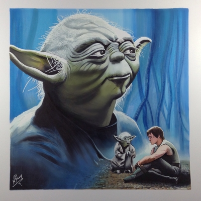STAR WARS ART (Yoda)