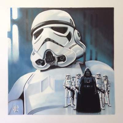 STAR WARS ART (Storm Trooper)