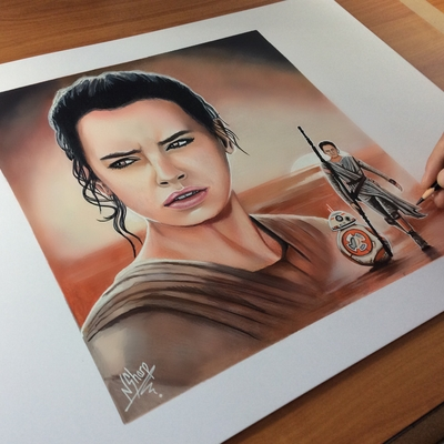 STAR WARS ART (Rey)