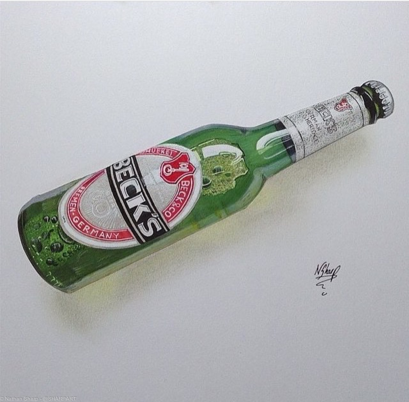 BECKS bottle Art
