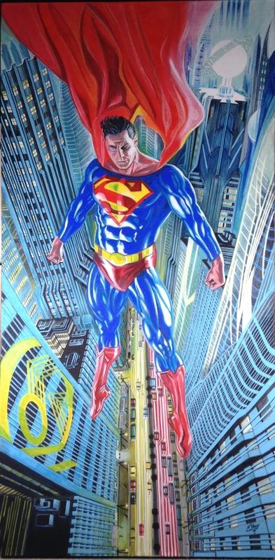 Superman / Acrylic paint on canvas