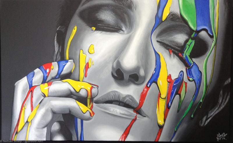 Acrylic paint on a box canvas