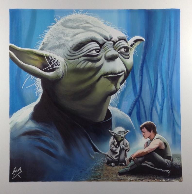 STAR WARS ART (Yoda)