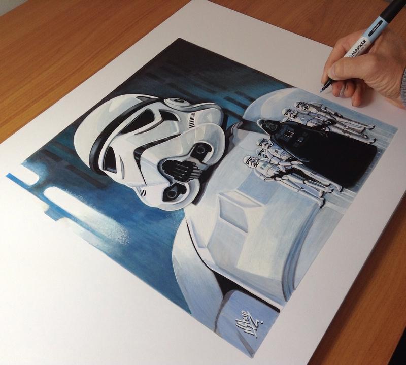 STAR WARS ART (Storm Trooper)