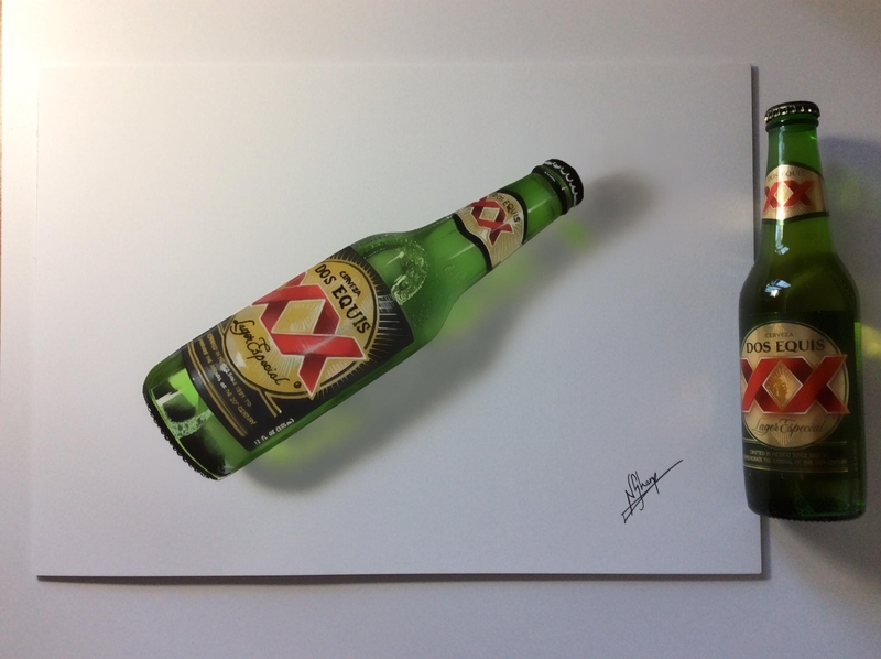 Mexican beer bottle Art