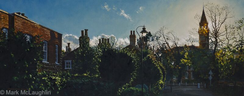 Dulwich College from Pond Cottages