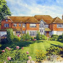 House portrait, Northwood, Hertfordshire