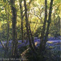 Bluebell woods, Rusper