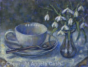 Snowdrops and Tea cup 1