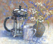 Cafetiere with Bluebells