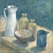 Blue Jug with Pots