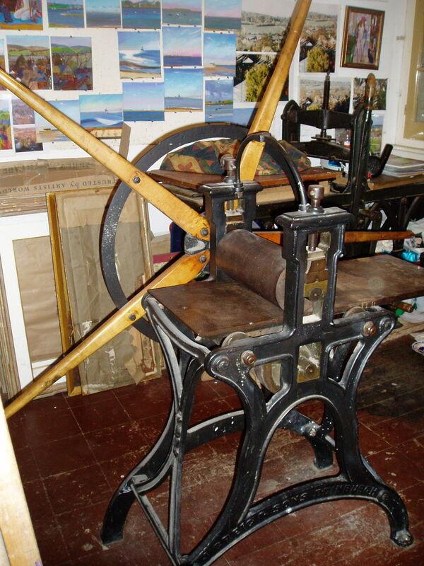my Grieg Starwheel Etching Press