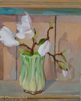 Sylvac pot with Magnolia blooms