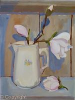 Little cream jug with Magnolia flowers