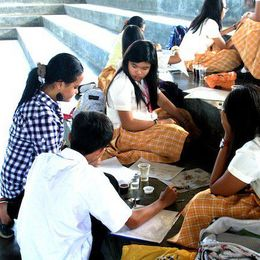 Coffee Painting Workshop at PSHS SMC (2011)