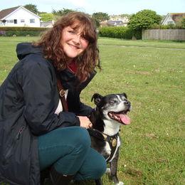 Suzanne Phillips and my dog, Josie