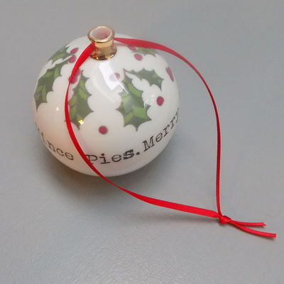 Peace, Love & Mince Pies Bauble