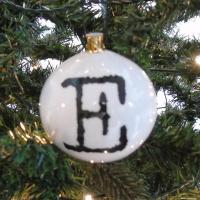 E for Excellent Bauble
