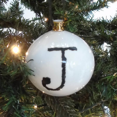 J for Just Perfect Bauble