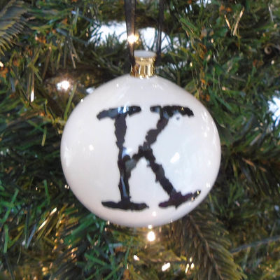 K for Kissable Bauble