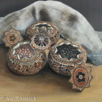 Gourds with Seeds and Hessian