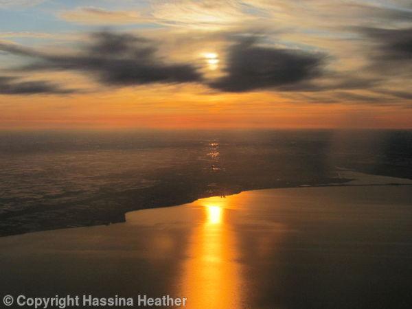 27,000 ft above Lake Ontario