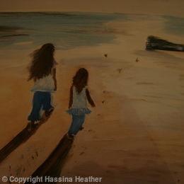Tianna & Layla on the beach
