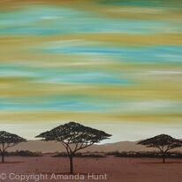 African Sunset Scene