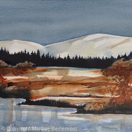 River Nith, Snow and Pines