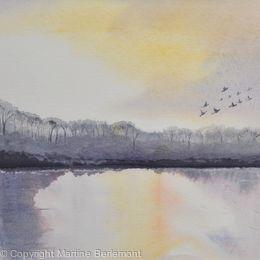 Evening Flight on the Loch