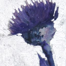 Thistle with real silver leaf